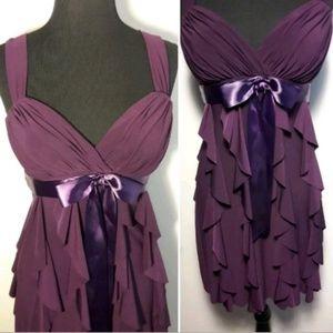 Betsy Adam Purple Cocktail Dress Women's 4P